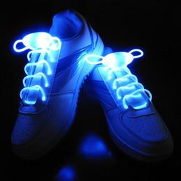 Wholesale Light Up Shoelace Glow - LED Shoelaces Shoe Laces Flash Light Up Glow Stick Strap Shoelaces Disco Party