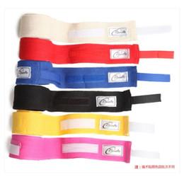 Wholesale Kickboxing Gloves - 2Pcs roll 260cm*5cm Men Cotton Boxing Bandage Strap Glove Wraps Boxing Equipment MMA Kickboxing Muay Thai Sanda Sports Training