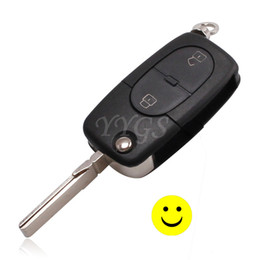 Wholesale Vw Passat Key Fob Cover - For Old VW Golf Polo Jetta Passat 2 Button Flip Remote Key Shell Fob Case Cover Takes CR1620 1616 Battery Hight Quality