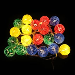Wholesale Egg Shape Lamp - Wholesale- 2.3 Meter LED Lamp String 20 Pieces Ball Shape Cracked Egg Lights Christmas Birthday Home Party Decoration CLH@8