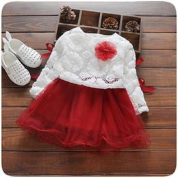 Wholesale Children S Clothing Dresses - 2016 autumn Kids Clothing Children Dress Girls Lace Tutu Dress Sweater+Dress 2 Pcs 4 s l