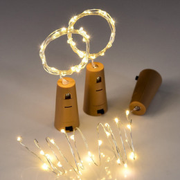 Wholesale Valentine Crafts - 2m 20-LED Copper Wire String Light with Bottle Stopper for Glass Craft Bottle Fairy Valentines Wedding Decoration Lamp Party