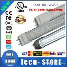 Wholesale Dual Ce - best qualit LED T8 dual row Tube 4FT 25w 28w 36W 2800LM SMD 2835 G13 FA8 R17D 192LEDS light 1.2m Double row 85-265V led fluorescent lighting