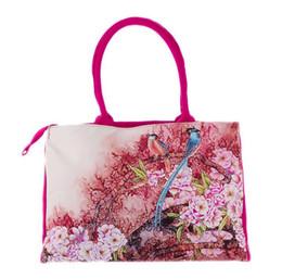 Wholesale Pretty Handbags - traditional women handbags elegant pretty printed ethnic style canvas clutches totes
