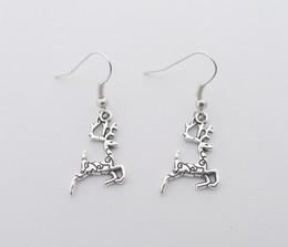 Wholesale Deer Earring - FREE SHIPPING Hot Sale Alloy Deer Earrings,E3707