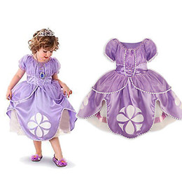 Wholesale Little Girls Princess Fancy Dress - 2016 girl dress Kids Girls Little Sophia Princess Party Fancy Dress Up Cosplay Party Costume 2-7