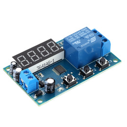 intelligent switch Promo Codes - Multifunction Delay Time Relay Module Timing Switch Control Cycle Timer DC 12V LED Display Intelligent Control Time Relay Delay