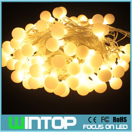 Wholesale Little Waterproof Led Lights - 10m 100led 110v 220v Little Ball LED String Holiday Lights Garlands with 8Different Modes RGB White Warm White for Party Wedding