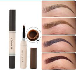 Wholesale Brow Set Gel - Eyebrow Pencils Professional Waterproof Makeup Eyebrow Set Tint My Brows Gel Long Lasting Grey Brown Henna Tattoo Eyebrow Dye Gel