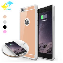 Wholesale Wholesale Iphone Charging Cases - 2018 QI Wireless Charger Receiver Case For iPhone 7 6 6S Plus Universal Adapter 5V 1A Charging with package