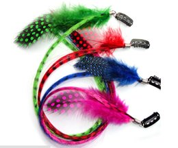 Wholesale Synthetic Hair Remy - Free Shipping Bohemia Hair Jewelry clip in Feather hair extension Hot sale Feather hair extensions Indian hair Jewelry