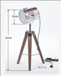 Wholesale Multi Office Desk - 110V 220V Quality Wood Triangle Tripod Base Searchlighting Probe Table Desk Reading Office Working Beside Lights Lamp Indoor Lighting