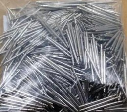 Wholesale Silver Needles - Wholesale Watches For Parts Watch accessories Raw Ear Thick Bullpup Needle Axis Steel Table Watchband Health Ear Rod