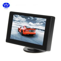 Wholesale Mini Radio Monitor - Monitor For Reverse Camera DVD VCR 4.3 Inch HD Mini TFT LCD 2 Channels Video Input Car Parking Rear View Monitor Video Sreeen player Electr