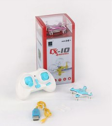 Wholesale Wholesale Plastic Model Airplanes - DHL Free shipping(CX-10), 4-channel 2.4GHz 6-axis gyroscope axis miniature remote control helicopter model toy airplane with light and music