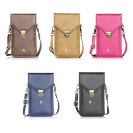 Wholesale Chinese Leather Handbags - For Iphone 7 Plus 6 6S SE Galaxy S7 Edge 10.5*18CM Flip Shoulder Bag 6.3inch Universal Universal Purse Rhinoceros PU Leather Pouch