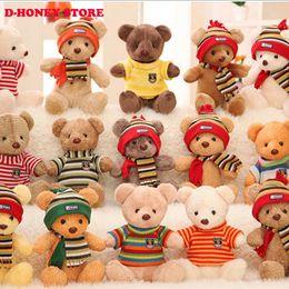 Wholesale Scarfs Bear For Kids - 30cm Soft Teddy Bears Plush Toys Stuffed Animals Bear Dolls wear scarf Kids Toys for Children Birthday Gifts Party
