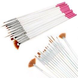 12 penna per lucidare online-Spedizione gratuita 12 pz gel acrilico uv nail art brush set nail painting disegno disegno dot pen kit punteggiatura strumento polacco manicure