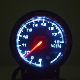 Medidores de pressão de vácuo on-line-QUENTE! NEW Universal Car Autogauge Voltage Volts PSI Pressão Medidor de Vácuo Medidor LED New frete grátis