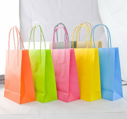 Wholesale crafts shops - Kraft Paper Bags Kraft Paper Gift Party Bags Wedding Birthday Christmas Paper Gift Bags Upscale Clothing Handheld Shopping Bag