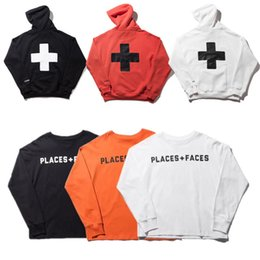 Wholesale Purple Pullovers - 2018 places+faces Hoodies Women Men 1:A1 High Quality places plus faces pullover Sweatshirts places+faces Hoodies