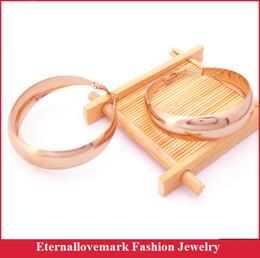 Wholesale Hoop Earrings Diameter - Rose gold plated crescent moon hoop earring 2016 latest popular stainless steel women jewelry, Diameter 53.5mm