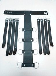Wholesale Tie Ankle Wrist - Alternative toys tied bondage leather handcuffs imprison his hands against the back of adult fun supplies SM Handcuffs flirt