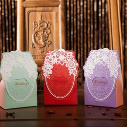 Wholesale Lace Favor Bags - 2017 Continental wedding creative candy box personalized wedding candy packaging paper box wedding Lace back gift bag box