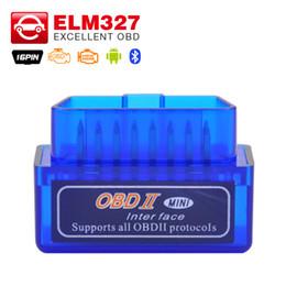 torque obd bluetooth Desconto Atacado-Super ELM327 v2.1 Mini Bluetooth ELM 327 OBDII OBD-II OBD2 Protocolos Auto ferramenta de diagnóstico funciona no Android Torque frete grátis
