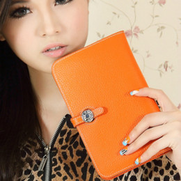 Wholesale Hip Hop Notes - 2016 New Brand Luxury Wallet Women's Handbag Bag Passport Holder Women's Genuine Leather Cell Phone Wallet Purse-Free Shipping