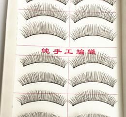 Wholesale Eye Lashes 217 - Wholesale-10 Pairs Makeup Handmade Natural False Eyelashes Soft Eye Lash Cosmetic 217