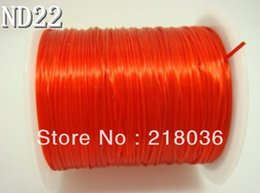 Wholesale Strong Elastic String - 10pcs Red Crystal 10M Elastic Cord Beading String Thread Strong Stretchy DIY Jewelry 0.8mm M1469