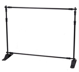 Wholesale Exhibition Displays - 4ft-8ft Width 4ft-8ft Height Adjustable Step And Repeat Advertising Banner Stand,Exhibition Telescopic Backdrop Display