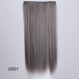 Wholesale Tape Hair Extensions Wholesale Cheap - Z&F Synthetic Fiber Hair Weft Straight Tape Hair Extension 5 Clip In Hair 24inch Long Cheap Wholesale Promotion