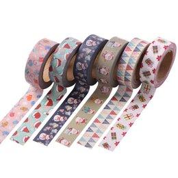 Nastri giapponesi online-Christmas Wrap Tape Adesivo Confezione regalo Fascia di ancoraggio Pasta decorativa DIY Babbo Natale Giappone e carta Spedizione gratuita