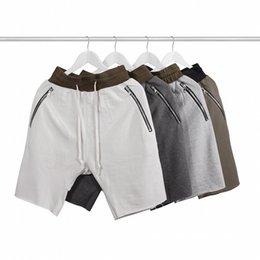 Wholesale Korean Sweats - Wholesale-summer korean hiphop fashion kanye west justin bieber sweat jogger Olive Green Khaki harem Man RO Sport Shorts