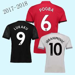 Wholesale Flash Football - AAA+ best Quality 2017 2018 MAN POGBA Ibrahimovic LUKAKU RASHFORD MKHITARYAN soccer jerseys 17 18 united MATA MATIC MARTIAL football jersey