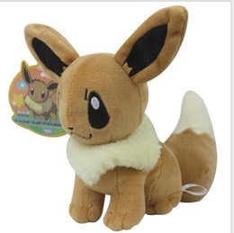 Wholesale Anime Dolls For Sale - Poke Plush Size 20cm Plush Toy Eevee Soft Stuffed Animal Rare Cool Collectible Doll Xmas Gift for Kids Boys Free Shipping Hot Sale