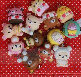 Wholesale Squishy Original - 7cm original packing soft kawaii squishy mix Rilakkuma queeze bun toys for cell phone san-X squishies bread free shipping