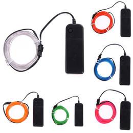 Nastri luminosi online-La luce di neon LED flessibile flessibile di 3M 9 colori illumina la lampada di ballo del legare del legare del legare del legare del legare della decorazione del partito