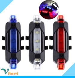 Lampada da bicicletta a LED super luminosa 5 LED 5V USB bici luce rossa blu bianco ABS impermeabile ciclismo Lampada di coda lampeggiante spia di attenzione da