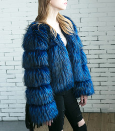 Wholesale Real Fur Suits - New Fashion Women's Clothes Winter Warm Slim cardigan Real Fox Fur Coat Outwear Party Jacket Suit Full Pelt Wide-waisted
