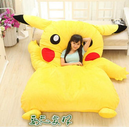 Wholesale Anime Bedding Sets - 2016 New Japan Anime Poke Pikachu Stuffed Large Cartoon Japanese Bed Mattress Pad Bedding Set Mat Memory Foam Cushion Summer Tatami