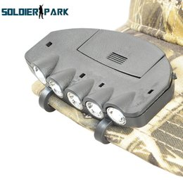 Wholesale Led Headlights Orders - Outdoor Night Fishing Tackle Zoom 5 LED Cap Lamp Cap Visor Lights Fishing Headlights Portable Hunting Fishing Lamp with Clip order<$18no tra