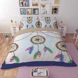 Colorful Printing 3 4pcs Bedding Sets Ethnic Style Soft Imitation Cotton Quilt Cover Bed Sheets Personality
