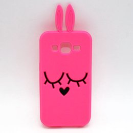Wholesale Note2 3d Cases - Cute 3D Cartoon Bunny Rabbit Phone Case for Samsung Galaxy Note 2 Note 3 Note 4 Note 5 Note2 Note3 Note5 A3 A5 A7 J1 J2 J5 J7 Silicone Cover