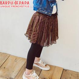 Wholesale Girls Tutu Tights - Fashion Big Girls Tutu Skirt Pants Sweet Skirts Glitter Yarn Tulle Kids Tights Skirt Plush Tiered Layer Skirts Children Mini Dress A7547