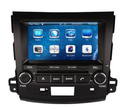 Wholesale Mitsubishi Outlander Gps Navigation - Car DVD Player GPS Navigation for Mitsubishi Outlander 2007-2013 with Navigator Radio Bluetooth SD USB AUX Auto Stereo Video Audio