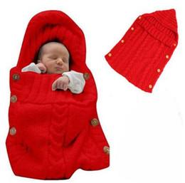 Wholesale Soft Warm Baby Blanket - Newborn Swaddle Infant Soft Warm Wrap Blanket Baby Kids Toddler Wool Knit Blanket Sleeping Bag Sleep Wrap 50pcs DHL Free Shipping