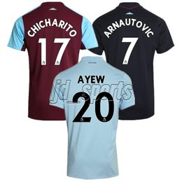Wholesale Premier League Football Jerseys - 2017-18 West Ham United Home Away Third Futbol Camisa Soccer Jersey Football Camiseta Shirt Kit Maillot Premier League